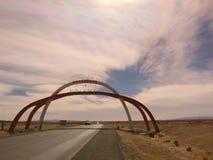 Detrás de la frontera de la Argentina a Bolivia foto de archivo libre de regalías