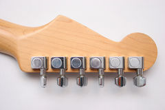 Detrás de la guitarra eléctrica Imagen de archivo