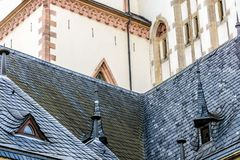 Detrás de la iglesia de Thomaskirche en Leipzig fotografía de archivo
