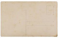 Detrás de la postal del espacio en blanco del vintage imagenes de archivo