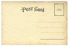 Detrás de la postal del espacio en blanco del vintage imagen de archivo libre de regalías