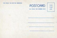 Detrás de la postal del espacio en blanco del vintage Fotografía de archivo libre de regalías