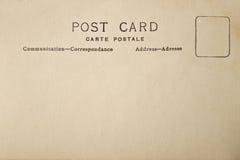 Detrás de la postal del espacio en blanco del vintage fotos de archivo libres de regalías