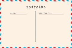 Detrás de la postal del espacio en blanco del vintage foto de archivo