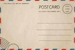 Detrás de la postal del espacio en blanco del vintage imágenes de archivo libres de regalías