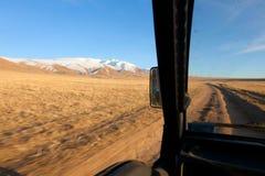 Detrás de la rueda de SUV Fotografía de archivo libre de regalías