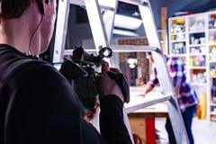 Detrás de las escenas del tiroteo video de la producción o del vídeo imágenes de archivo libres de regalías