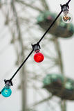 Detrás de las luces Fotografía de archivo libre de regalías
