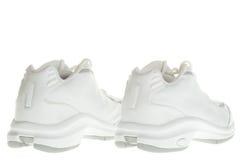Detrás de las zapatillas de deporte del baloncesto Imagen de archivo