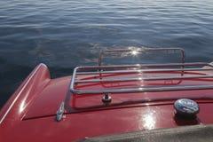 Detrás de un coche de deportes del vintage del rojo Foto de archivo libre de regalías