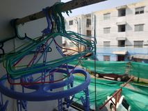 Detrás del balcón Foto de archivo