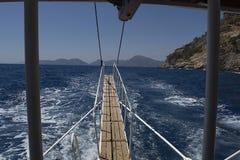 Detrás del barco Fotos de archivo libres de regalías