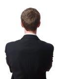 Detrás del hombre de negocios Imagen de archivo