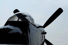 Detrás-lite P-51 Fotografía de archivo