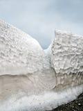 Detrital deposits för Snow i sommaren på nytt land Royaltyfri Bild