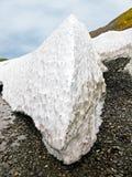 Detrital deposits för Snow i sommaren på nytt land Arkivbilder