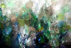 Detriti di plastica dell'oceano Fotografia Stock
