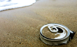Detriti sulla spiaggia Fotografia Stock