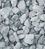 Detritus. Grey crushed stone, close up Stock Photography