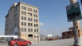 Detroit övergav affär 2 stock video