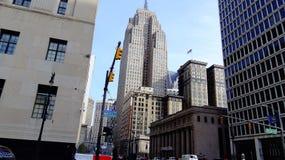 Detroit śródmieście Woodward zdjęcie royalty free