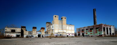 Detroit. Abandoned factory in Detroit, Michigan royalty free stock photos