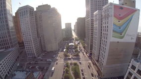 Detroit Aerial City Editorial