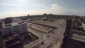 Detroit Aerial Freeway stock video