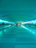Detroit Airport Walkway - Teal Stock Photos