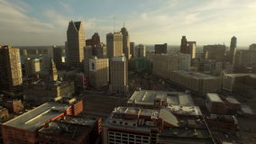 Detroit-Antenne stock video footage