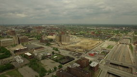 Detroit-Antenne stock footage