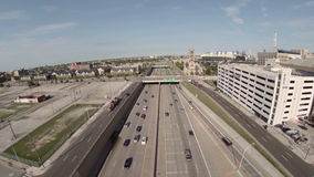 Detroit antennmotorväg arkivfilmer