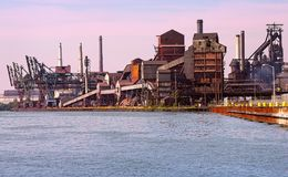 Detroit area Steelmill Royalty Free Stock Images