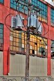 Detroit bakgata av den funktionella fabriken Royaltyfri Bild