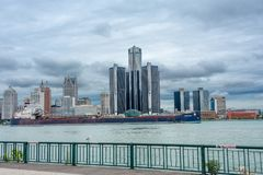Detroit, the building of General Motors Stock Images