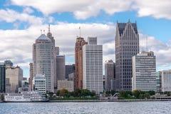Detroit byggnader Royaltyfri Fotografi