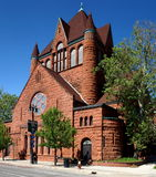 Detroit Church. The former First Presbyterian Church, now the Ecumenical Theological Seminary, is located at 2930 Woodward Avenue in Midtown Detroit, Michigan royalty free stock image