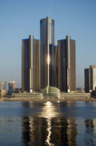 Detroit at Daybreak Panoramic November 2015 Royalty Free Stock Images