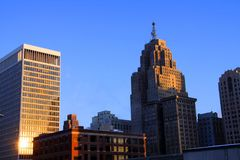 Detroit downtown Royalty Free Stock Images