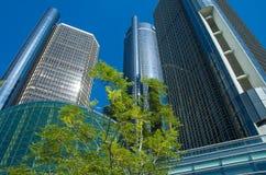 Detroit du centre Archetcture photographie stock libre de droits