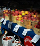 Detroit Eastern Market apples Royalty Free Stock Image