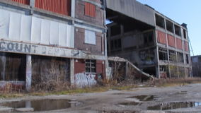 Detroit Factory Ruins 2 stock video