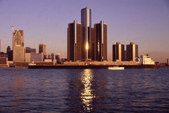 Detroit flod Royaltyfria Bilder