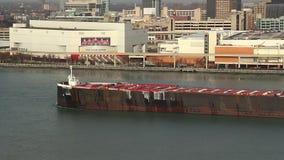 Detroit-Frachter stock video