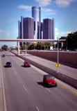 detroit i stadens centrum trafik Royaltyfria Bilder
