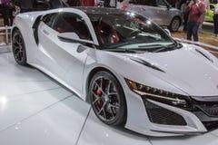 DETROIT - 17. JANUAR: Das Acura 2017 NSX das nordamerikanische Inte Stockbild