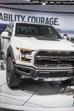 DETROIT - JANUARI 17: De pick-up van Ford Raptor van 2017 bij N Stock Foto's