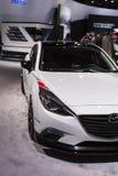DETROIT - JANUARI 26: Det nya begreppet 2014 för Mazda klubbasport 3 på Arkivbild