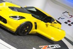 DETROIT - JANUARI 26: Nieuwe superca van de het Korvetpijlstaartrog van 2015 Z06 Stock Foto's