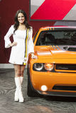DETROIT - JANUARY 26 :The 2014 Dodge Challenger at The North Ame Royalty Free Stock Image